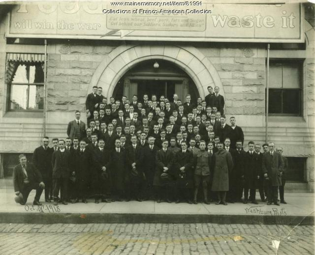 Army Recruits, Lewiston City Hall, 1918