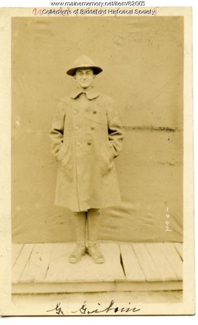 WW I soldier George Giboin, Biddeford, ca. 1914