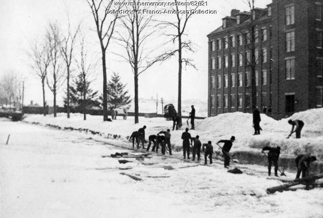 Ice Breaking, Lewiston Canal, ca. 1900