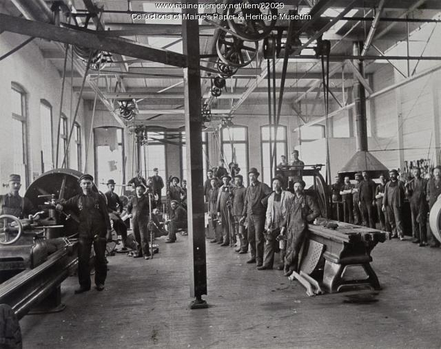 Otis Mill Machine Shop, Jay, ca. 1940