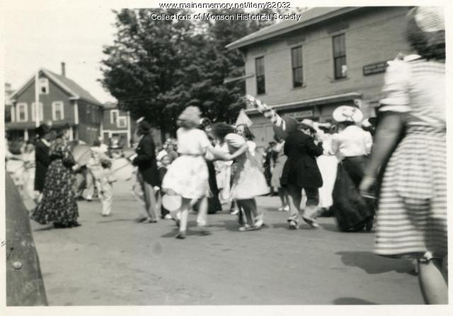 VJ Day in Monson, 1945