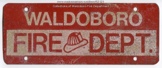Decorative vehicle plate, Waldoboro, ca. 1970