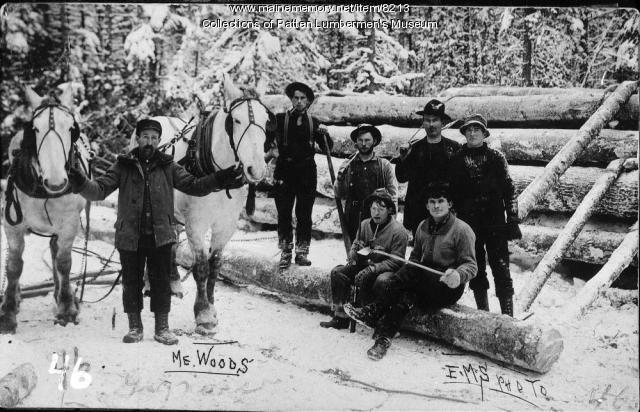Gagnon's Crew, Horses & Log Yard