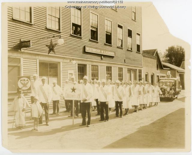 Westbrook Star Laundry, Westbrook, ca. 1934