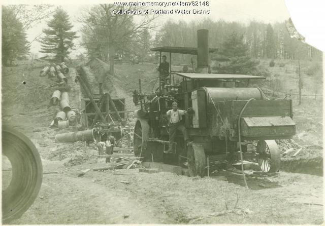 Sebago Lake Water Transmission Line 1912