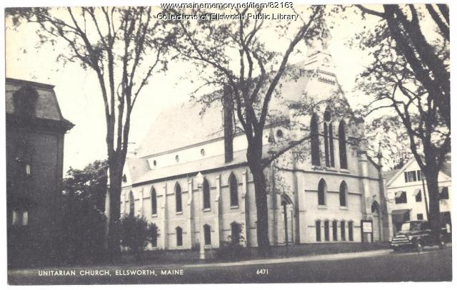 Unitarian Church, Ellsworth, ca. 1940
