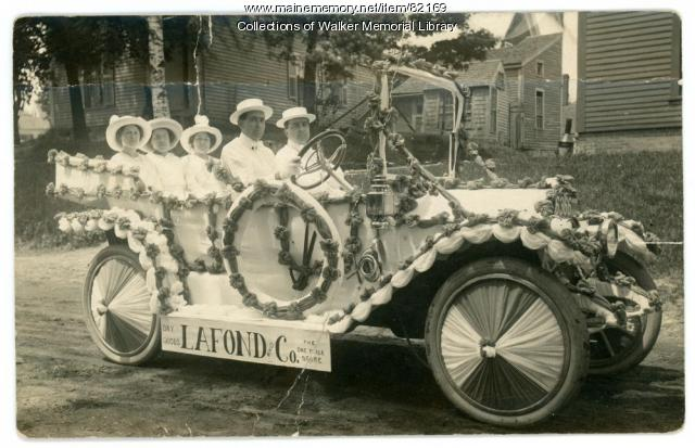Lafond and Co. Department Store car, Westbrook, ca. 1914