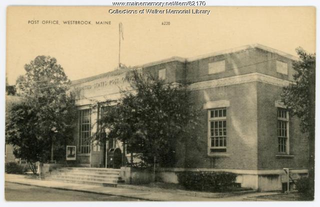 Westbrook Post Office, Westbrook, ca. 1950