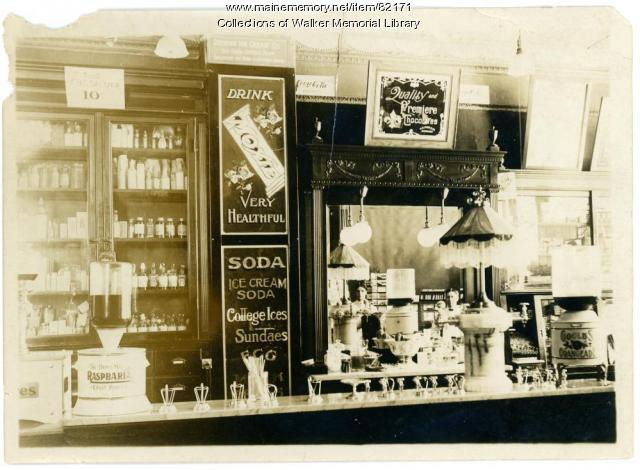 Vallee Pharmacy, Westbrook, ca. 1910