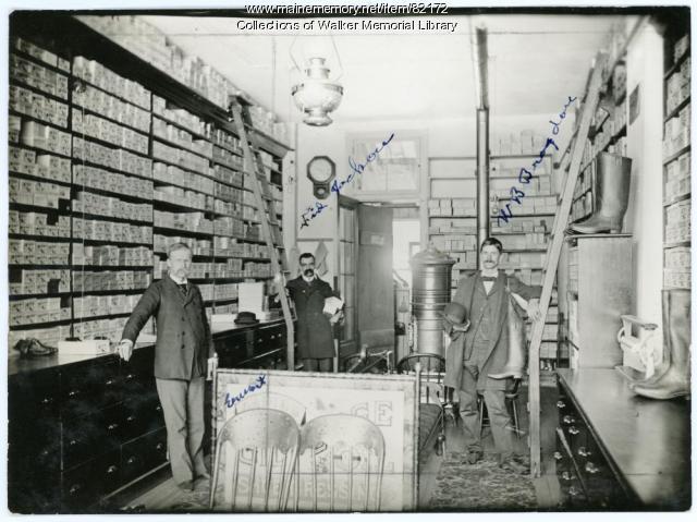 Bragdon Bros. Shoe Store, Westbrook, ca. 1898