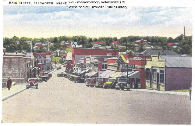 Main Street, Ellsworth, 1939