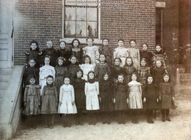 Girls at St Joseph's School, Auburn, ca. 1890