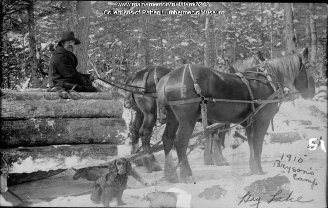 Team, Load & Teamsters -Bryson's Camp at Hay Lake 1915