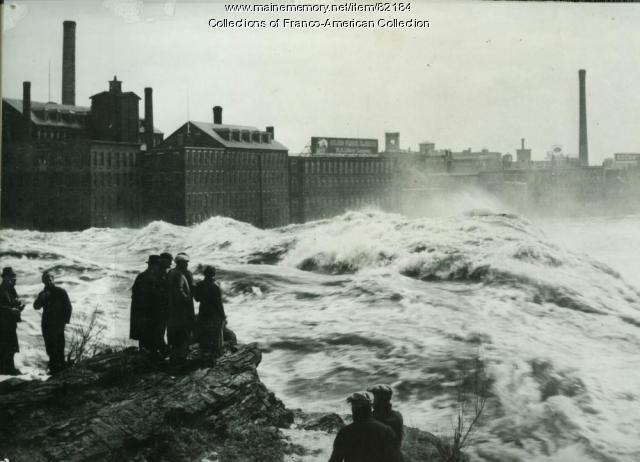 Spring Freshet at the Lewiston Falls, 1936