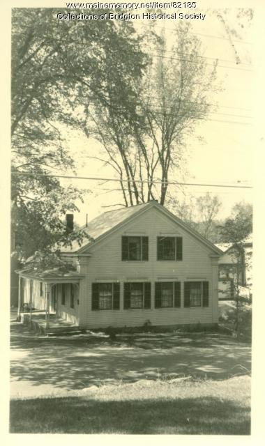 Methodist Church Parsonage, Main Street, Bridgton, ca. 1938
