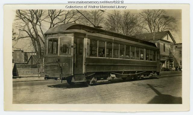 Westbrook Trolley, Westbrook, ca. 1930