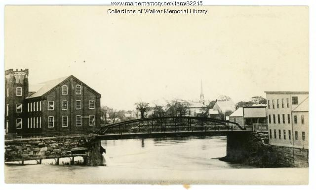 Bridge Street bridge, Westbrook, ca. 1890