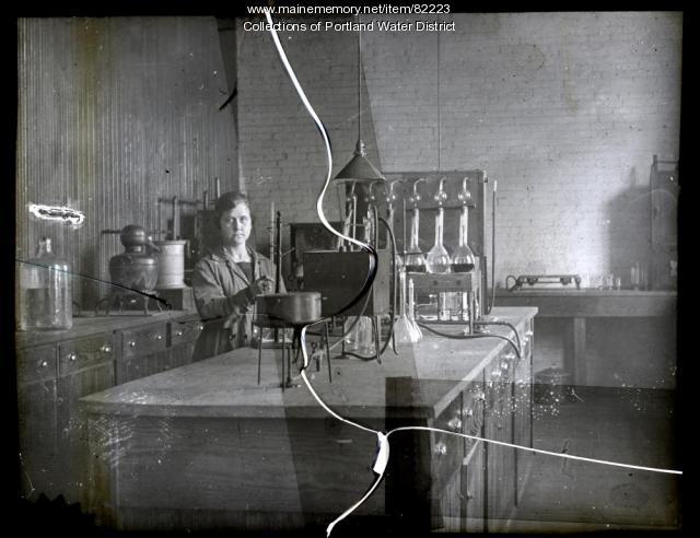 Portland Water District Laboratory on Casco Street, 1919