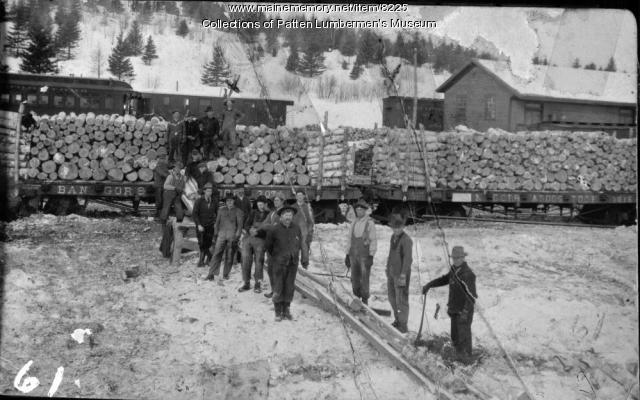 Loading Birch at B&A Station, Patten