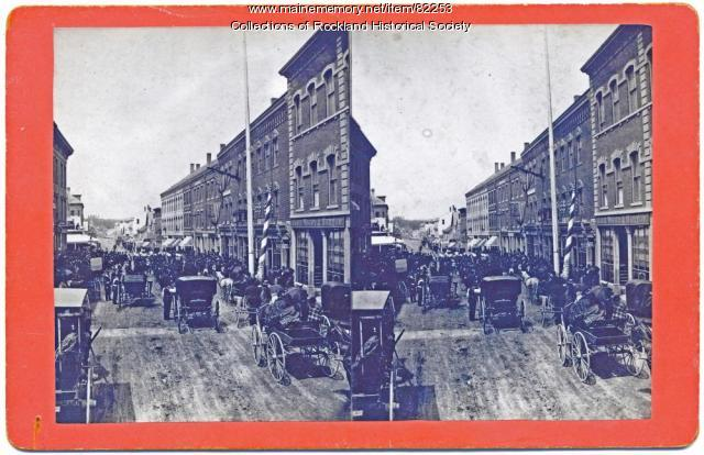 Main Street, Decoration Day, Rockland, ca. 1875
