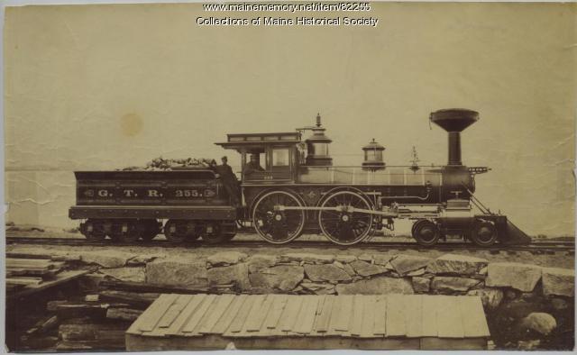 Grand Trunk Railroad engine 255, Portland, 1867