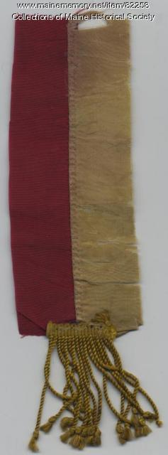 Flag relic, 16th Maine, ca. 1863