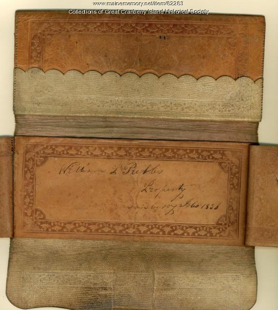 William Pitt Preble wallet, Great Cranberry Island, 1836
