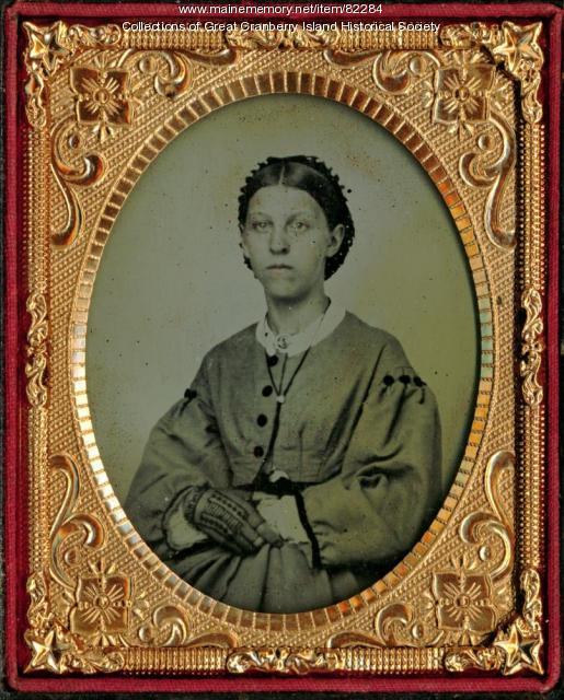 Jane Matilda Hadlock Sanford, Great Cranberry Island, ca. 1855