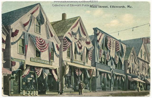 Main Street celebration, Ellsworth, ca. 1910