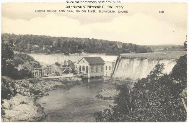 Union River Power House and Dam, Ellsworth, ca. 1920