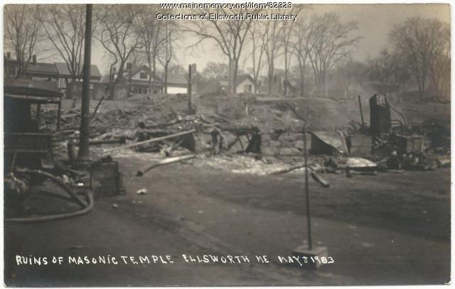 Ruins of Masonic Lodge, Ellsworth, 1933
