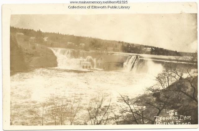 Leonard Dam, Ellsworth, 1923