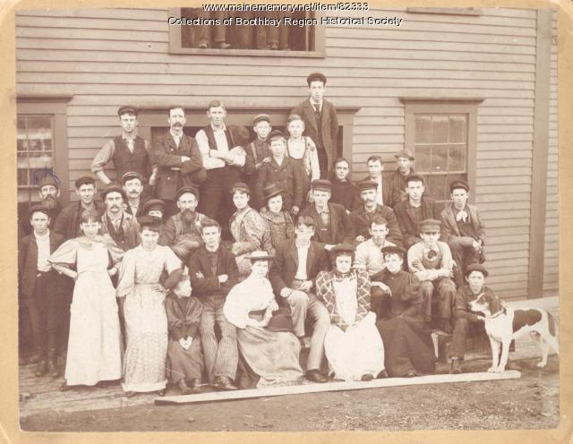 Maddocks Packing Co. employees, Boothbay Harbor, ca. 1900