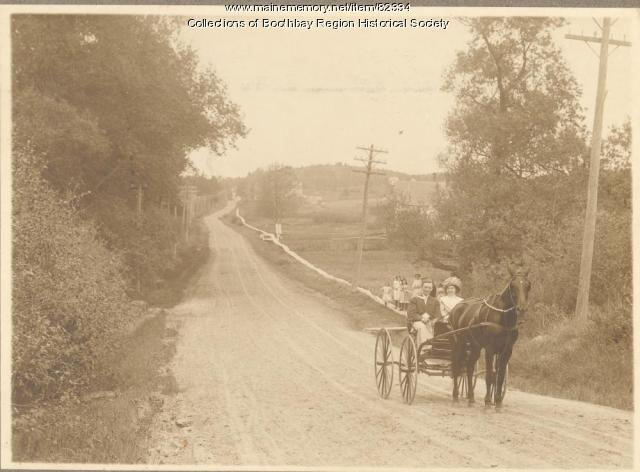 Horsedrawn carriage, Boothbay Harbor, ca. 1915