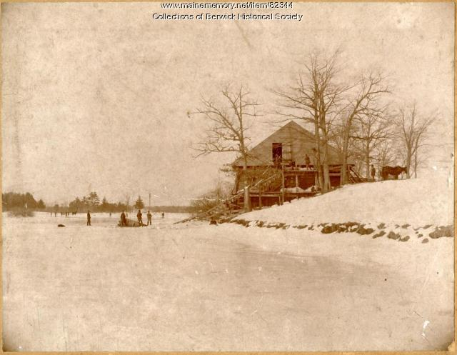 Ice Cutting on Hall's Pond, Berwick, ca. 1900