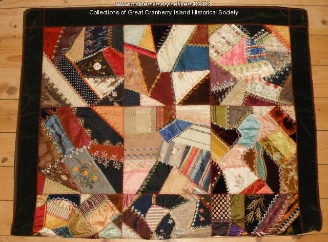 """Crazy quilt,"" Great Cranberry Island, ca. 1880"