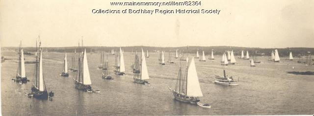 The mackerel fleet in Boothbay Harbor, ca. 1890