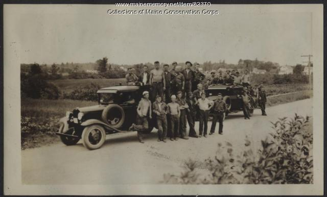 Two Civilian Conservation Corps Crews from the Flagstaff Camp, 1933