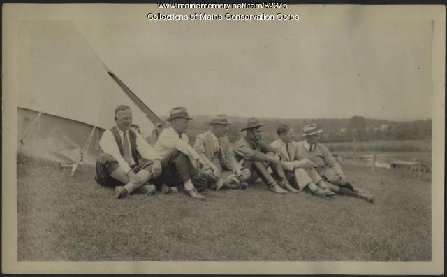 Civilian Conservation Corps at Flagstaff Camp, 1933