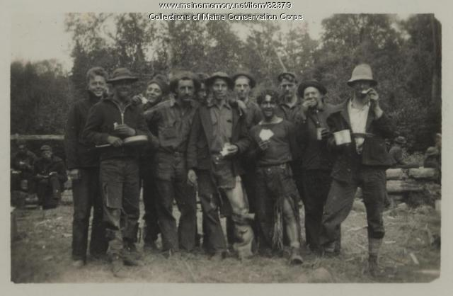 CCC 178th, Bog Brook Forest Fire Crew, Flagstaff Camp, 1930s