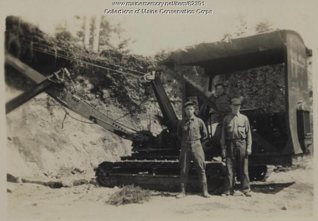 Civilian Conservation Corps gravel pit at Mt. Bigelow, Flagstaff, ca. 1935
