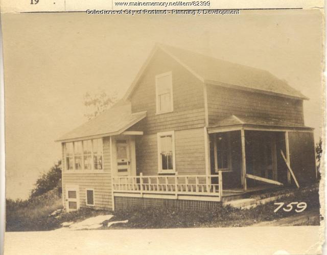 Kimball property, S. Side Oak Avenue, Peaks Island, Portland, 1924