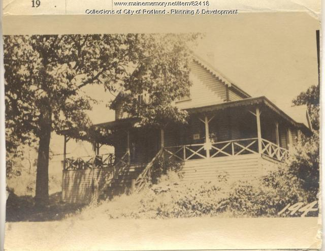 Bridges property, E. Side Oak Avenue, Peaks Island, Portland, 1924