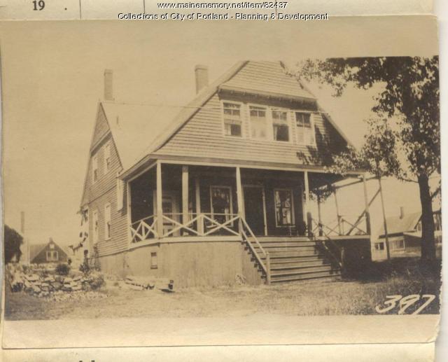 Dow property, Meridian & Oakland Avenue, Peaks Island, Portland, 1924