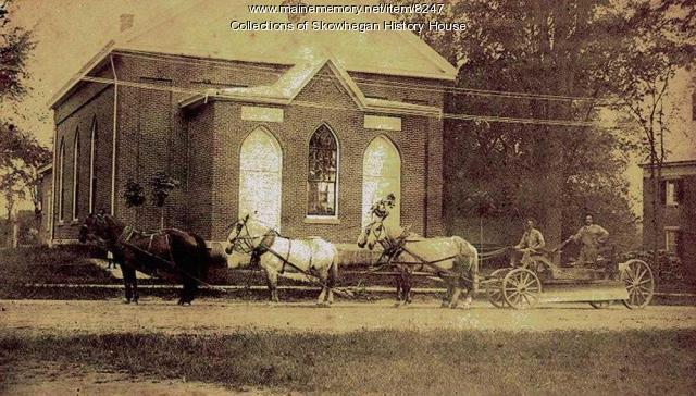 First Baptist Church, Skowhegan, ca. 1880