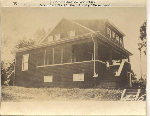 Doe property, E. Side Pleasant Avenue, Peaks Island, Portland, 1924