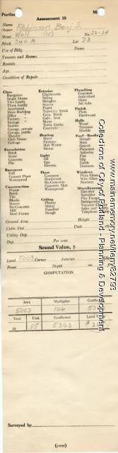 Assessor's Record, 32-34 Wall Street, Portland, 1924