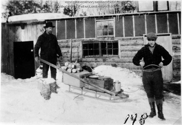 Cookee's one-runner sled at camp
