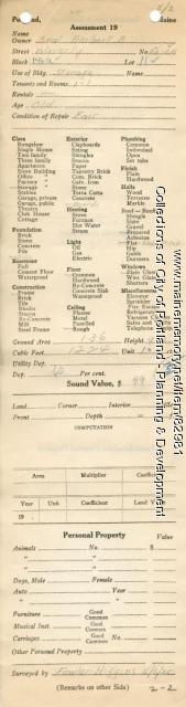 Assessor's Record, 20-24 Waverly Street, Portland, 1924