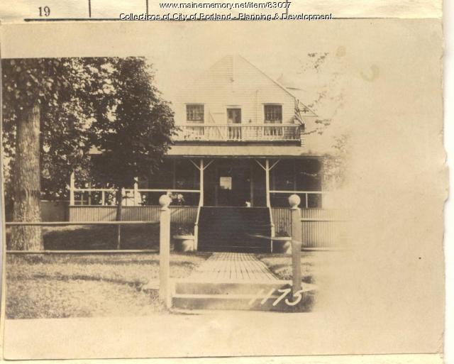 Fifth Maine Regimental Mem. Society property, S. Side Seashore Avenue, Peaks Island, Portland, 1924